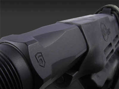Hard-anodized Mil-Spec type III black finish