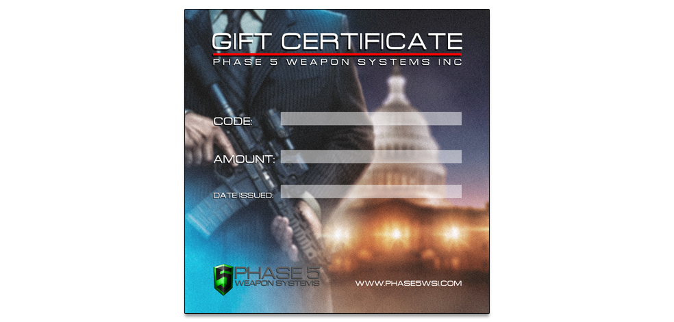 Phase 5 WSI Gift Certificate