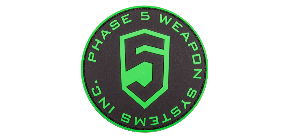 Phase 5 // Phase 5™ 3D PVC Patch - Green Circle logo