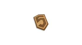 Phase 5™ 3D PVC Patch - Tan / Brown