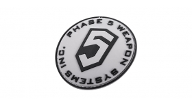 Phase 5™ 3D PVC Patch - Grey Circle logo