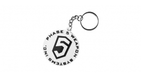 PHASE 5 LOGO KEY CHAIN - WHITE